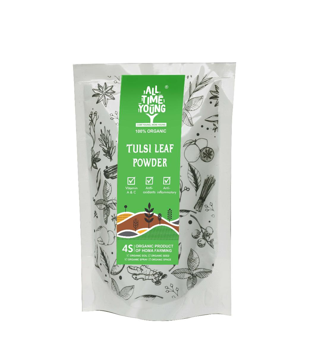 All time Young OrganicTULSI LEAF TEA 50 Grams