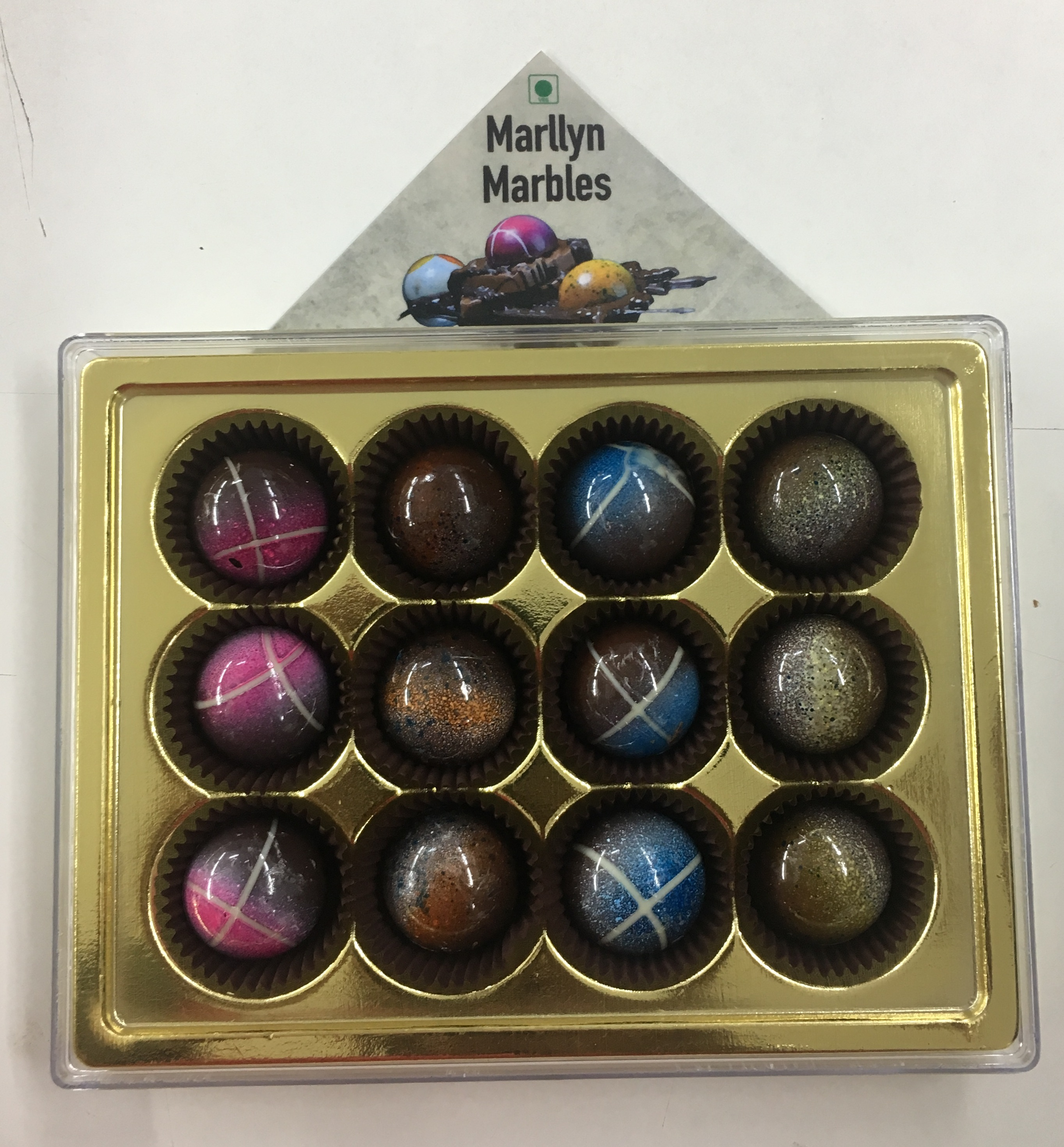 Marllyn Marbles - Assorted Luxury Belgian Chocolates 12 Piece